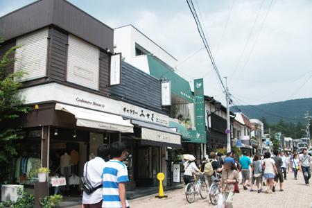 旧軽井沢銀座の町並み