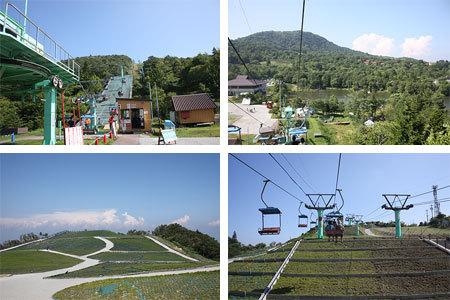 茶臼山高原リフトからの眺め