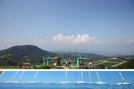 茶臼山高原山頂からの眺め
