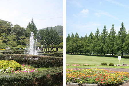 岐阜市畜産センター公園噴水広場