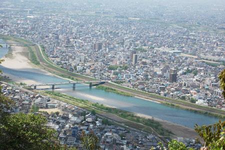 岐阜城からの眺め長良川