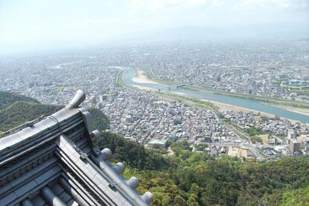 岐阜城からの眺め岐阜の町