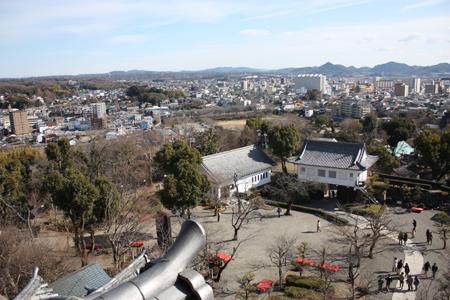 国宝犬山城天守閣からの眺め