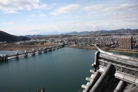 国宝犬山城木曽川の眺め