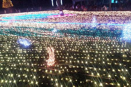 木曽三川公園センターのイルミネーション