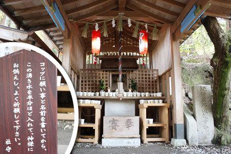 恋の水神社参拝