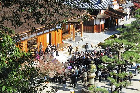 虎渓山永保寺の紅葉