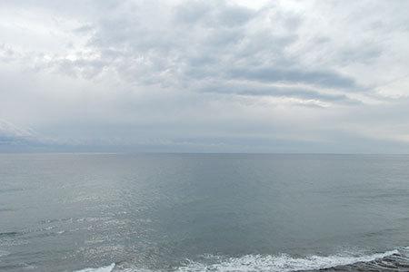 御前崎から眺める海