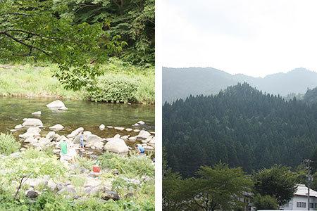 道の駅白鳥川と山