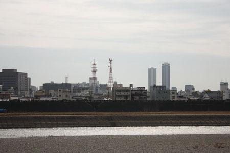 高橋尚子ロードと岐阜の町と長良川