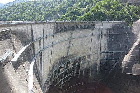 日本一の黒部ダム