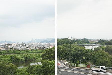 道の駅柳津からの眺め